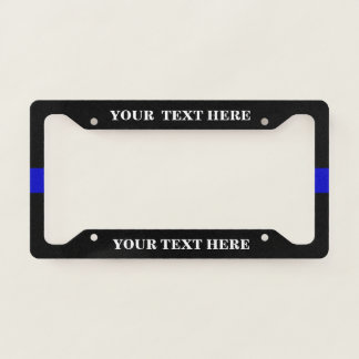 Thin blue line Police Support License Plate Frame