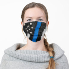 Thin Blue Line | Police US Flag Cloth Face Mask