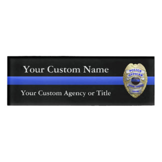 Thin Blue Line Police Virtues Badge