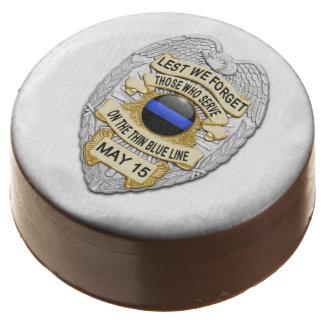 Thin Blue Line Police Week Gathering Dessert Chocolate Dipped Oreo