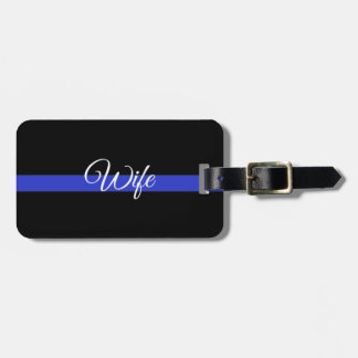 Thin Blue Line: Police Wife Bag Tag