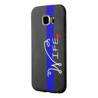 Thin Blue Line Police Wife Samsung Galaxy S6 Case