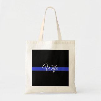 Thin Blue Line: Police Wife Tote Bag