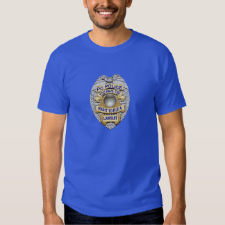 Thin Blue Line Politically Correct Police Badge T-shirt