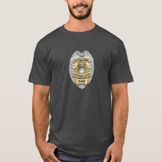 Thin Blue Line Politically Correct Police Badge T-Shirt