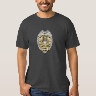 Thin Blue Line Politically Correct Police Badge Tee Shirts