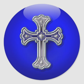 Thin Blue Line Prayer For Safety Classic Round Sticker