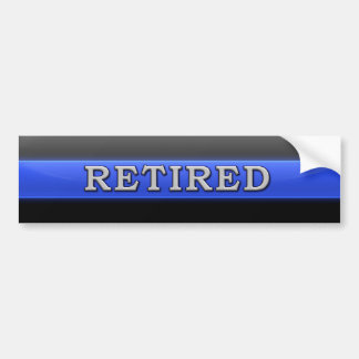 Thin Blue Line Retired Bumper Sticker