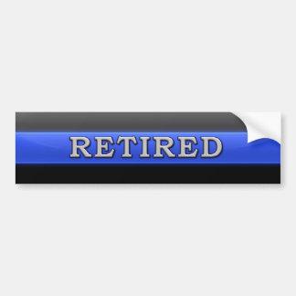Thin Blue Line Retired Car Bumper Sticker