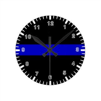 Thin Blue Line Round Clock