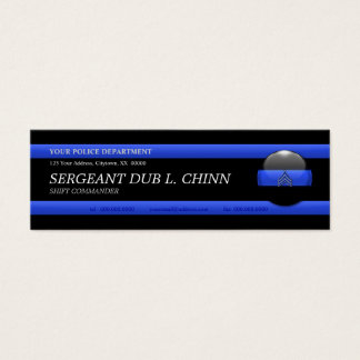 Thin Blue Line Sergeant Custom Business Card