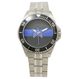 Thin Blue Line - Sergeant Stripes Watch