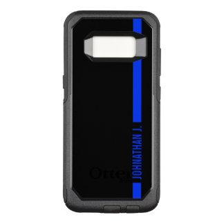 Thin Blue Line Serviceman Custom Name OtterBox Commuter Samsung Galaxy S8 Case