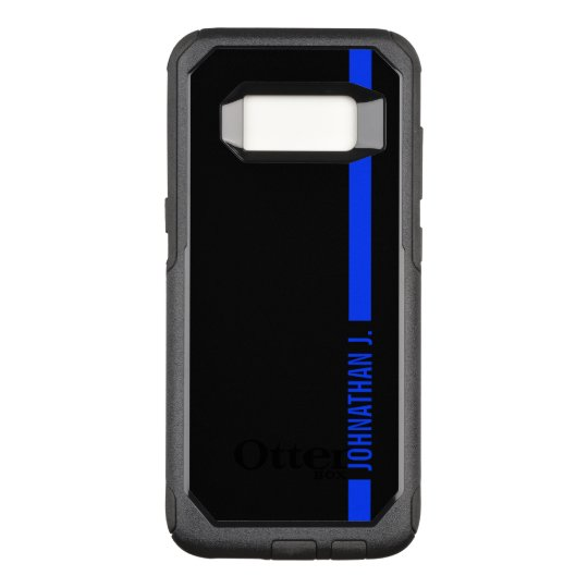 new style 5581b eaf9c Thin Blue Line Serviceman Custom Name OtterBox Commuter Samsung Galaxy S8  Case
