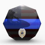 """Thin Blue Line - Shackled to the Brotherhood Award<br><div class=""""desc"""">Customize this beautiful gift with your own text to suit the circumstances. This original &quot;Shackled to the Brotherhood&quot; badge artwork was designed specifically for law enforcement officers. It makes a wonderful gift for all of the usual gift occasions but also in acknowledgement of personal achievement, recognition, promotion or retirement. It...</div>"""