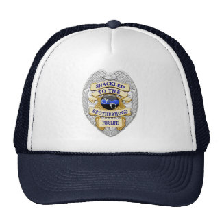 Thin Blue Line - Shackled to the Brotherhood Badge Trucker Hat