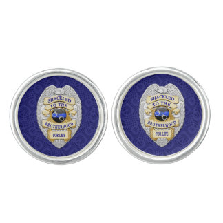 Thin Blue Line - Shackled to the Brotherhood Cufflinks