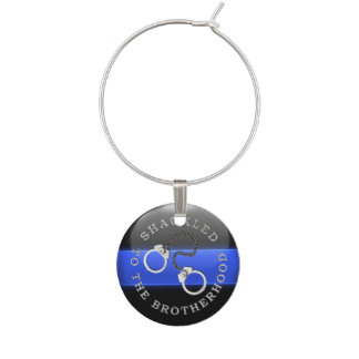 Thin Blue Line - Shackled to the Brotherhood Wine Charms