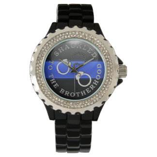 Thin Blue Line - Shackled to the Brotherhood Wrist Watch