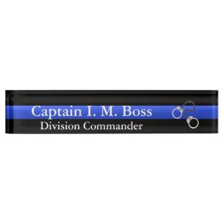 Thin Blue Line - Shackles Desk Nameplate