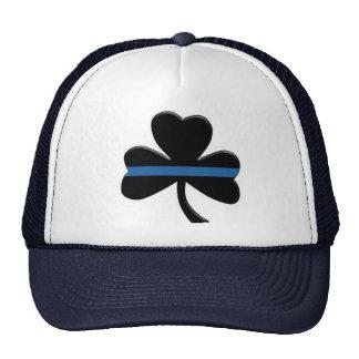 Thin Blue Line: Shamrock Trucker Hat