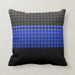 Thin Blue Line Squares Pillows