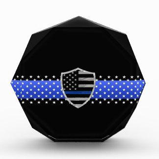 Thin Blue Line - Stars and Flag Shield Acrylic Award