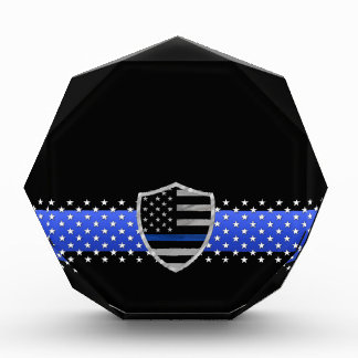 Thin Blue Line - Stars and Flag Shield Award