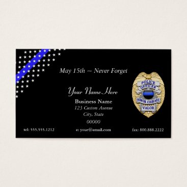 DimeStore Thin Blue Line Stars and Stripes Badge Business Card