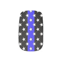 Thin Blue Line Stars and Stripes Minx Nail Wraps