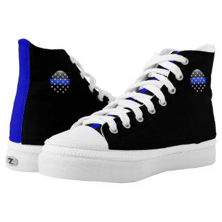 Thin Blue Line Stars High-Top Sneakers