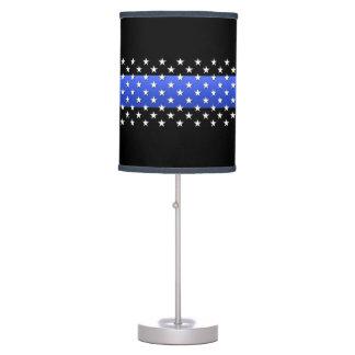 Thin Blue Line Stars Table Lamp