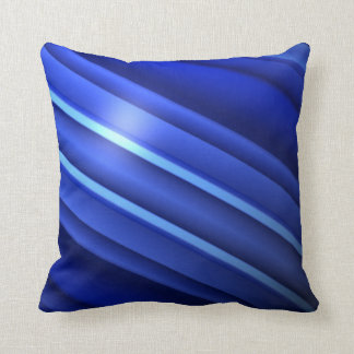 Thin Blue Line - Stripes Throw Pillow