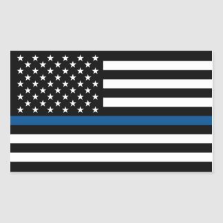 Thin Blue Line Support Police Sticker