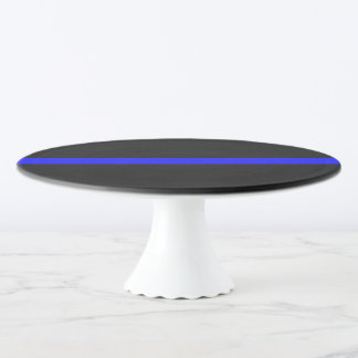 Thin Blue Line Symbolic on on a Cake Stand