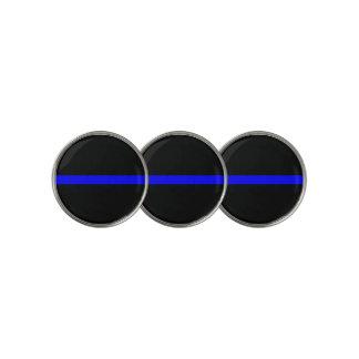 Thin Blue Line Symbolic on on a Golf Ball Marker