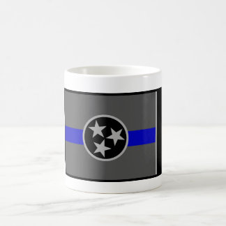 THIN BLUE LINE TENNESSEE STATE FLAG COFFEE MUG