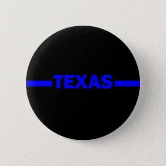 Thin Blue Line TEXAS Police Officer Button