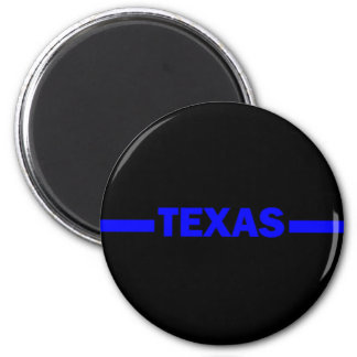 Thin Blue Line TEXAS Police Officer Magnet