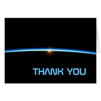 Thin Blue Line Thank You Note Card