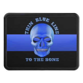 Thin Blue Line to the Bone Trailer Hitch Cover