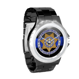 Thin Blue Line - Triumph Over Evil Wrist Watch