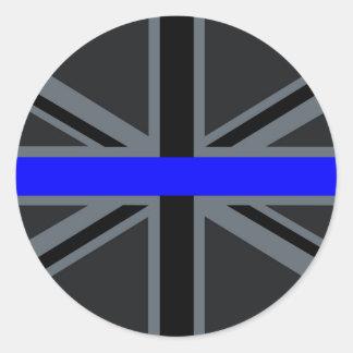 Thin Blue Line Union Jack Decor Classic Round Sticker