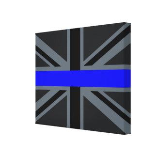 Thin Blue Line Union Jack Style Canvas Print
