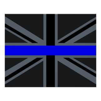 Thin Blue Line Union Jack Style Poster