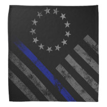 THIN BLUE LINE Vintage Betsy Ross Flag Bandana
