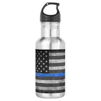 Thin Blue Line Water Bottle