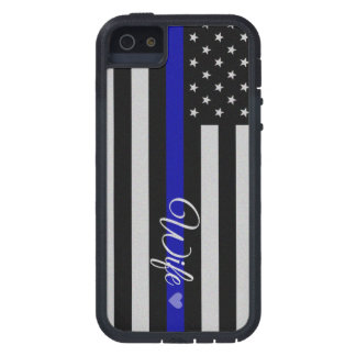 Thin Blue Line Wife Flag iPhone 5 Cover