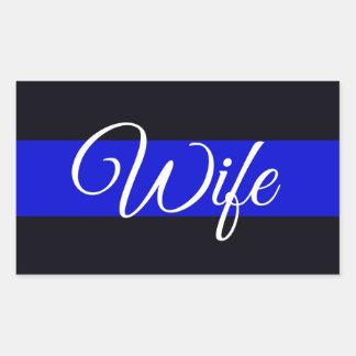 Thin Blue Line Wife Sticker