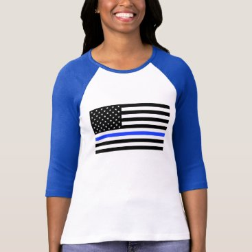 worksaheart Thin Blue Line women's shirt